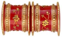 Indian Ethnic Jewelry Bangles Bollywood Fashion Bridal Red Costume Kada Bangles
