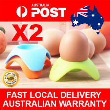 2pcs Silicone Egg Cups Boiled Eggs Holder Soft Eggcup