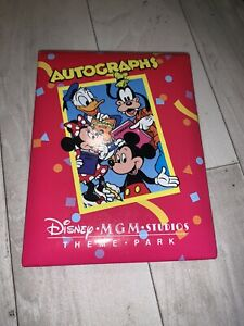 Disney MGM Studios Theme Park Autographs Book With Siganutres From Mickey Minnie