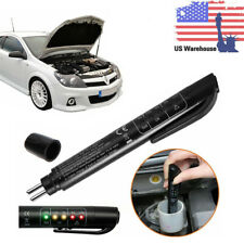 Car Brake Fluid Liquid Tester Pen Auto Oil Moisture Diagnostic Tool 5 Led US