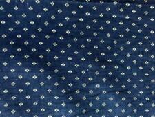 """Antique Fabric 19thc Indigo Blue Calico Tiny Geometric Quilt Doll 9""""x9"""" 5 availa"""