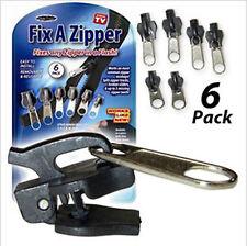 1Set 6pc Fix A Zipper Zip Slider Repair Instant Kit Removable Rescue Replacement