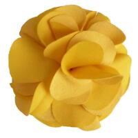 Pince à cheveux bibi broche grand fleur tissu jaune vif cérémonie soirée mariage