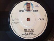 JO JO GUNNE 1972 Vinyl 45rpm Single RUN RUN RUN