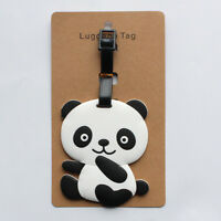 New Cute Panda Bear Luggage Tag Label Suitcase Bag ID Tag Name Address Tag L3A