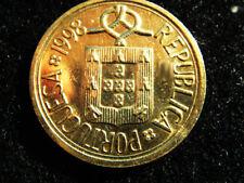 1998 Portugal 10 escudos portugueses Escudo de grado de moneda en muy buen