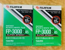 [ NEW] 2rolls Fujifilm FP-3000B45 Packfilm black and white film From JAPAN #682
