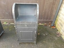 Vintage Industrial style Bedside Storage Cabinet. Made from Metal (2)