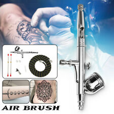Dual Action Airbrush Kit 0.2mm 0.5mm Nozzle Spray Gun Tube Paint Art Tattoo