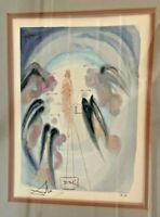 "SALVADOR DALI Woodcut Divine Comedy - ""Paradise 24"" - HAND SIGNED with COA"