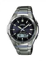 Gents Casio Solar Titanium Watch WVA-M640TD-1AER RRP £190.00 Our Price £100.75
