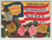 [71269] 1941 SOUVENIR POSTCARD FOLDER, TOURNAMENT of ROSES, PASADENA, CALIFORNIA