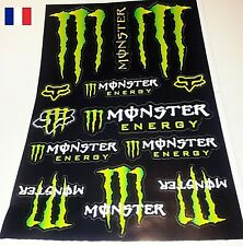 Autocollant MONSTER ENERGY  4 adhésif STICKERS  MOTO CARENAGE
