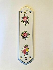 Genuine Vintage Ceramic Door Finger Push Plate