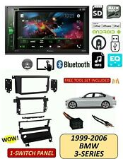 BMW 99-06 3-Series TOUCHSCREEN BLUETOOTH DVD Stereo Kit, 1 Switch Panel E46