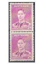 Australia 1941 2d KGVI PURPLE COIL PAIR Mint Hinged SG185a