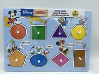 Disney Melissa & Doug Colors Shapes Wooden Peg Puzzle (8 pcs) New Sealed