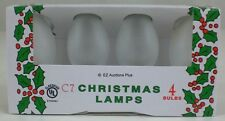 (4 Pack) of FROSTED CLEAR C-7 Light Bulbs 5 Watt Holiday Christmas Night NEW