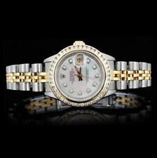 Rolex YG/SS DateJust 1.00ct Diamond Ladies Watch Lot 899