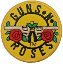 Pistolas y Rosas Roca Grupo Musical Metal Pesado Parche con Plancha de Coser