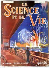 Science et vie n°234 du 12/1936; La lumière à l'exposition de 1937