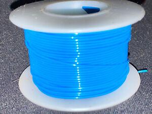 """28 GA. 19 Strand Type """"E"""" Teflon Blue MIL16878/4-28 200°C @ 600V  100 ft. spool"""