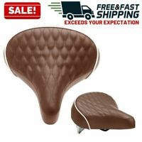 Bike Seat Saddle Comfortable Ergonomic Quilted Wide No Pressure Bicycle 2 Pack