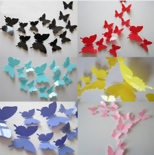 SET 12 FARFALLE 3D ADESIVE FARFALLA ADESIVO MURALE PVC ADESIVI PARETI