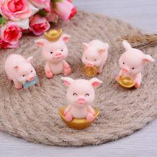 5pcs/set Cute Pig Miniature Animal Garden Decoration Diy Fairy Garden DecRCUS