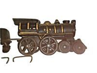 Vintage Train Railroad Steam Engine Coal Car Cast Iron Black Gold Pacific Rim Rd