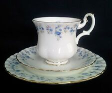 "ROYAL ALBERT DEMITASSE COFFEE TRIO ""MEMORY LANE"" C1970S"