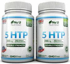 5HTP 200 mg Suplemento 2 frascos de 360 comprimidos de 100% de garantía de devolución de dinero por Nu U