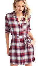 Gap x Pendleton Women's Long Sleeve Red Plaid Shirt Dress Size XXL NWT