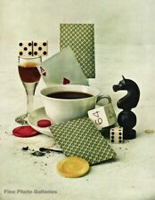1947 Casino Cards IRVING PENN Gambling Games Drinks Still Life Photo Art 16X20