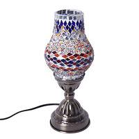 Shop LC Handmade Crystal Ball Mosaic Turkish Glass Table Lamp with Bronze Base