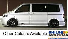 VW Volkswagen Transporter T5 Camper Van Signature stickers graphics decals