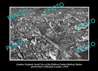 OLD POSTCARD SIZE PHOTO LONDON ENGLAND HOLBORN RAILWAY STATION c1950