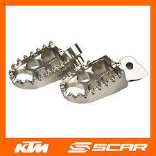 REPOSE CALE PIED EVO KTM 125 150 250 350 450 SX SXF EXC EXCF 98-15 TITANE SCAR