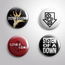 4 System Of A Down - Pinbacks Badge Button 25mm 1'