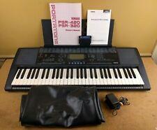 Yamaha PSR-320 61-Key MIDI Keyboard w/ Manual, Cartridge, Wall Adapter & Cover