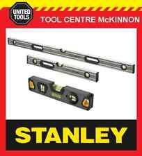 STANLEY FATMAX PRO BOX 23cm, 2ft / 600mm & 4ft / 1200mm SPIRIT LEVEL TRIPLE PACK