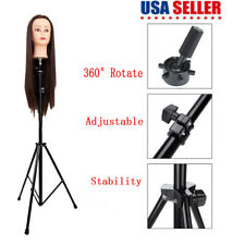 Mannequin Head Tripod Hairdressing Training Head Holder Hair Wig Stand Tool New