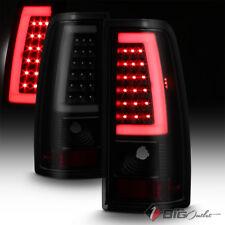 For 99-02 Silverado/99-06 Sierra Black Smoked Fiber-Optic-Tube LED Tail Lights