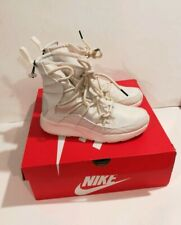 Nike Tanjun High Rise High Top Womens Sneaker Boots AO0355 Ivory Color Size 8