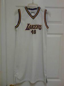Los Angeles Lakers Rare #48 Women's  Size Large Reebok Jersey Dress