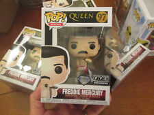 Funko Pop Queen Freddie Mercury # 97 Diamond Collection F.Y.E. Fye Exclusive