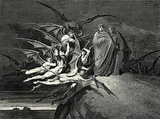 Gustave DORE Inferno canto 21 OLD MASTER ART PAINTING imprimé Poster 1230oma