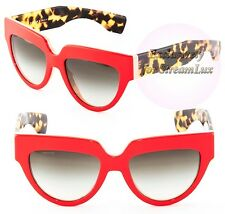 PRADA POEME Sunglasses SPR 29P SL2-0A7 Women Cat Eye Red Coral Brown Tortoise