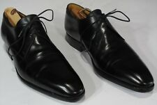 $1100 J M WESTON Derby Oxfords Shoes 7E UK, 8US. Plain Toe Black Calf