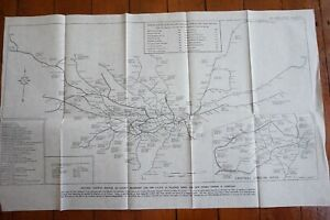 1947 Electric Railway London Ttansport & LNER Map Services When Complete